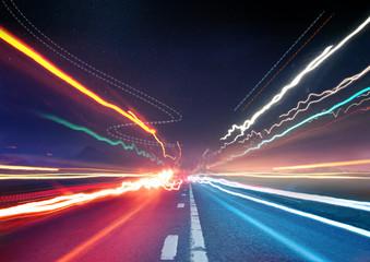 Urban Traffic Light Trails