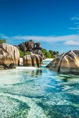 Anse Sous d'Argent beach with granite boulders