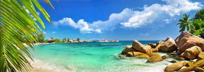 tropical holidays in paradise of Seychelles islands