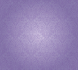 violet vintage seamless floral background design