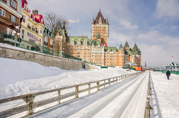 Chateau Frontenac in Winter, Quebec City