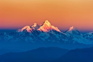 Himalayan Mountains View from Mt. Shivapuri
