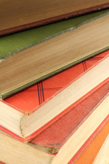 Multicolored Stack of Old Books