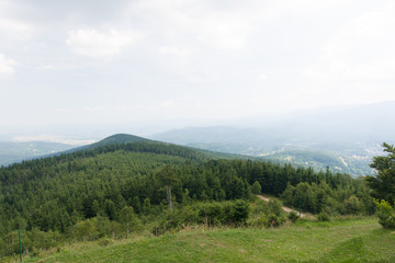 Wysoki Kamień, widok na Szklarską Porębę, Sudety, Polska