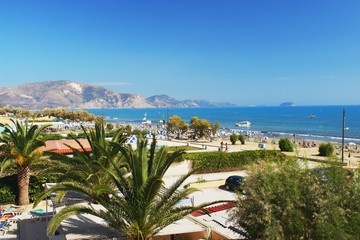 View of the beach in Laganas, Zakynthos