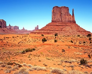 Desert landscape, Monument Valley, Arizona.