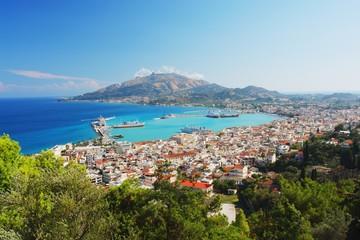 Widok na główne miasto Zakynthos, Grecja