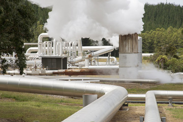 Wairakei Geothermal Power Station at Taupo New Zealand