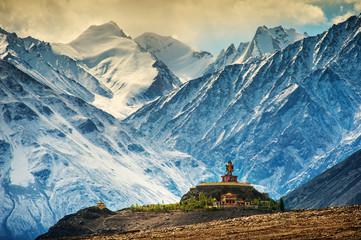 Maitreya and Disket Monastery, Ladakh, Indie