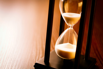 Hourglass with the sand running through