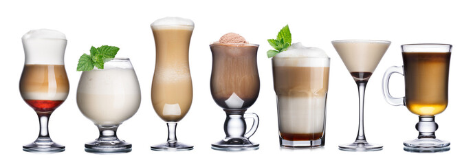 Coffee cocktails collection