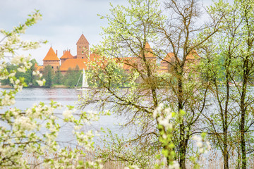 View on medieval old castle in Trakai, Lithuania