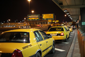 Airport Taxi Lineup