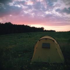 Samotny namiot