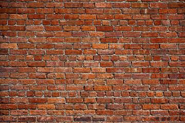 stary mur z czerwonej cegły