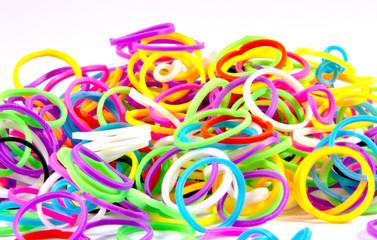 elastic loom bands color full