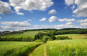 Saarland – Landschaft Wanderweg Natur bei Eiweiler / Heusweiler