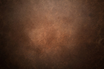 Old brown leather background
