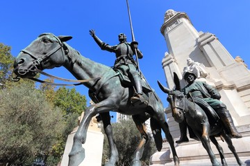 Madrid monument - Cervantes memorial