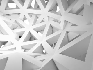 Abstract 3d background with chaotic construction
