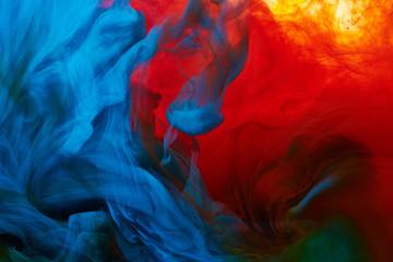 Splash streszczenie farby