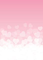 Background rosa e cuori