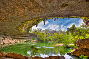 Otwór do zlewu Hamilton Pool, Teksas, USA