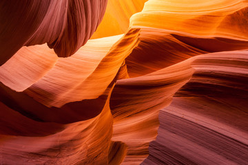 Sandstone texture in Antelope canyon, Page, Arizona