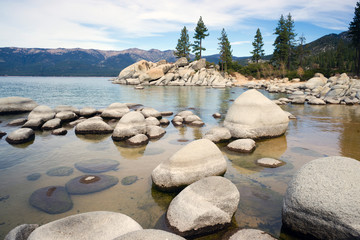 Smooth Rocks Clear Water Lake Tahoe Sand Harbor