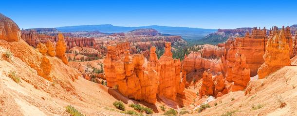 Panoramiczny widok Bryka jaru park narodowy Utah, usa