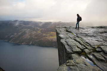 Man on Preikestolen