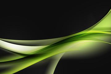 zielone fale na czarnym tle