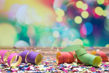 Luftschlangen Konfetti Party