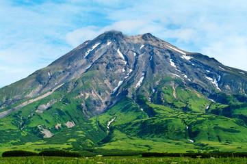 Fuss peak volcano at  Paramushir island,  Russia