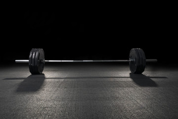 Weight training equipment.