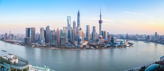 panoramę Szanghaju panoramiczny widok