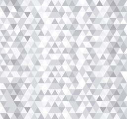White triangle tiles seamless pattern, vector background.
