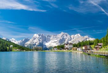 Lake of Misurina, Italian Dolomites in summer