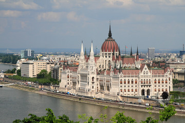 Building of Hungarian parliament. Budapest