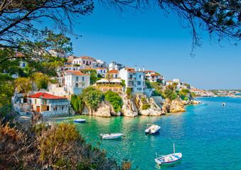 Stara część w miejscowości wyspa Skiathos w Grecji