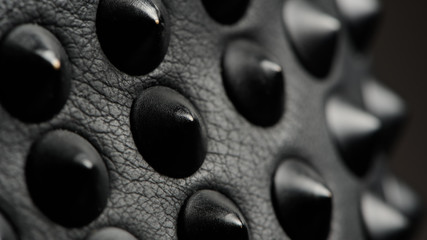 Black Leather Spikes (16:9 Aspect Ratio)