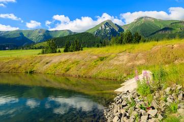 Beautiful mountain lake scenery in High Tatras, Slovakia