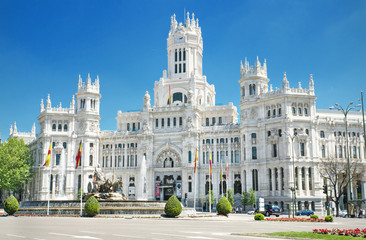 Palacio de Comunicaciones, famous landmark in Madrid, Spain.