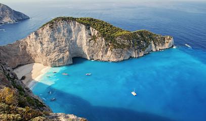 Wrak statku na plaży Navagio, Zakynthos, Zante, Zakynthos