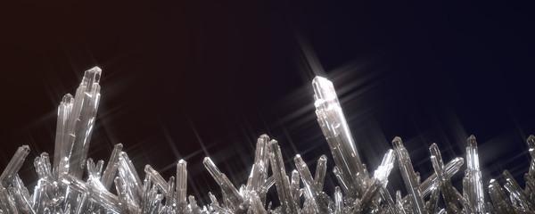 Kristalle mit neutralem Hintergrund