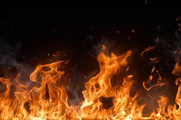 Piękne stylowe płomienie ognia