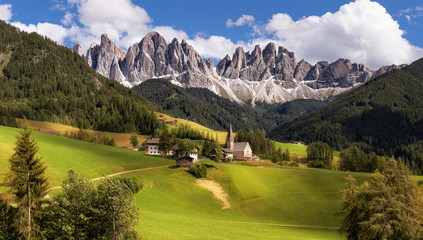 Panorama of Geisler (Odle) Dolomites Group