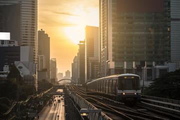 Modern train at bangkok,thailand