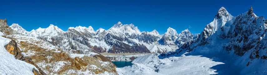 Everest panorama from Renjo la pass