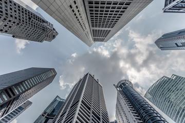 Bankenviertel in Singapur
